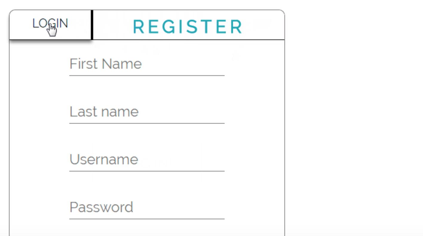 Login und Registrierungsformular