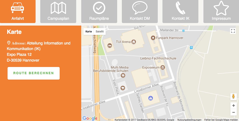 Ein Akkordeonmenü für die Fakultät III, Hochschule Hannover, Expo Plaza