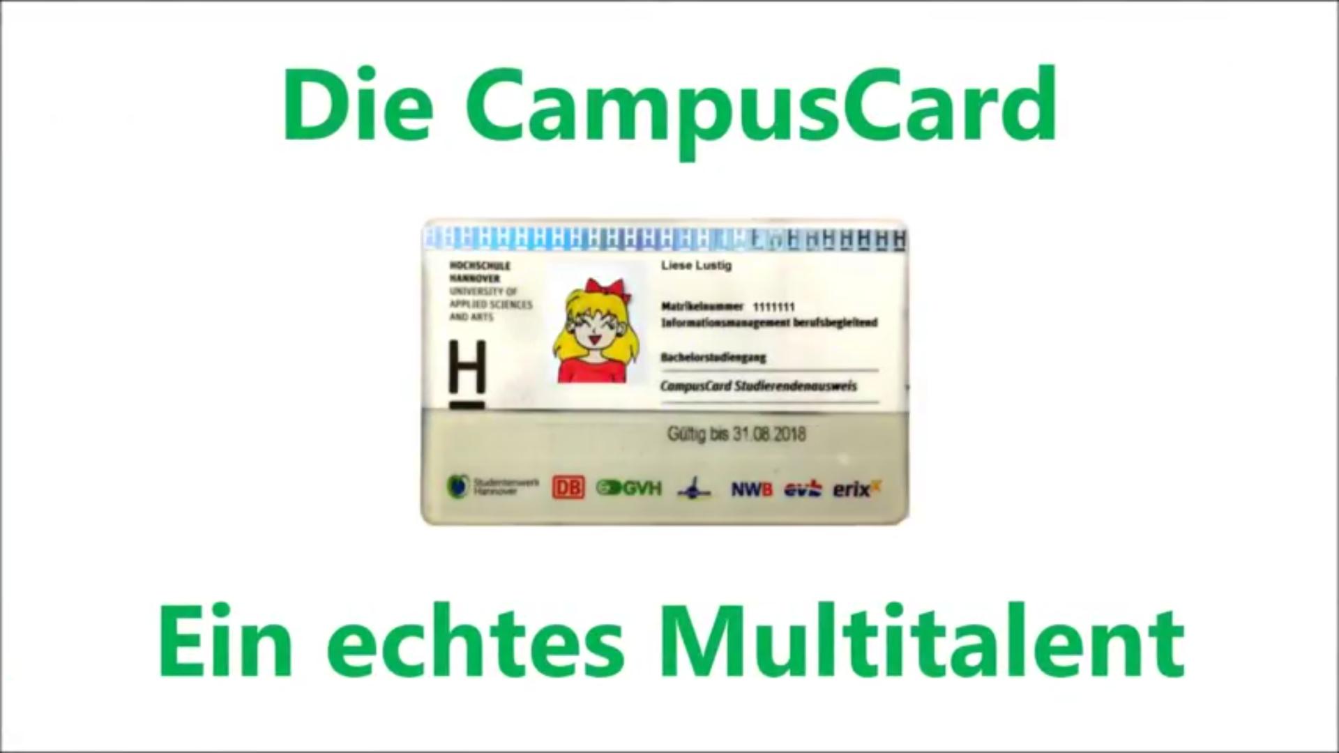 Die Funktionen der CampusCard