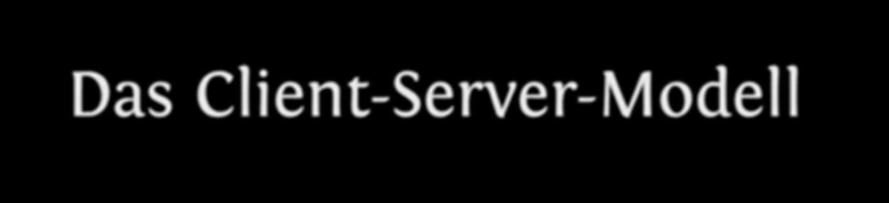 WebLab HsH: Client-Server-Modell