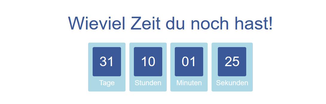 Klausuren Countdown