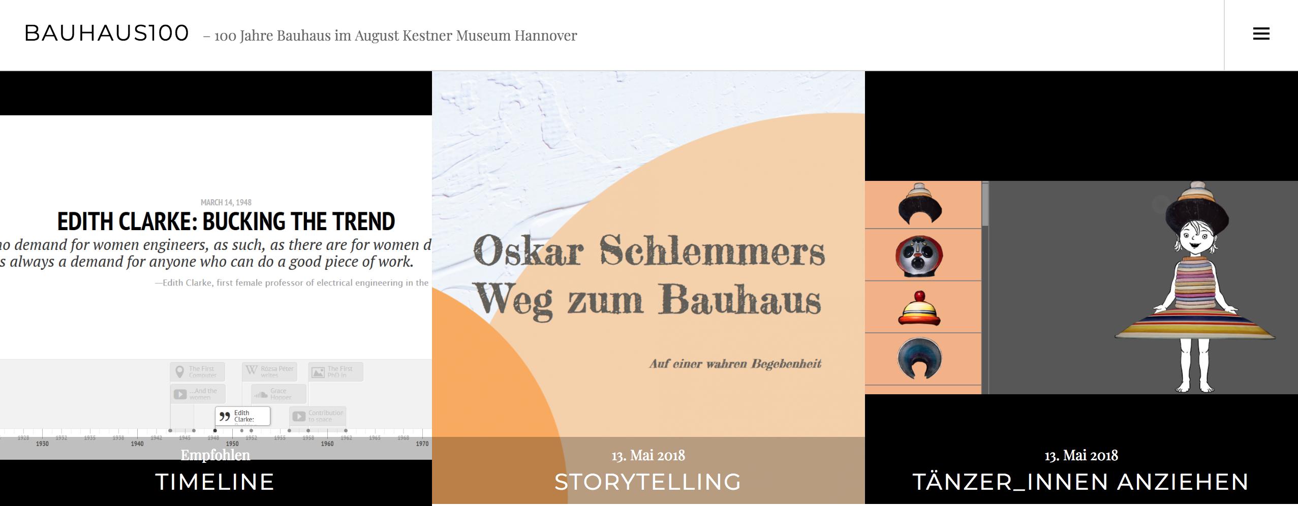 Bauhaus100 im WebLab