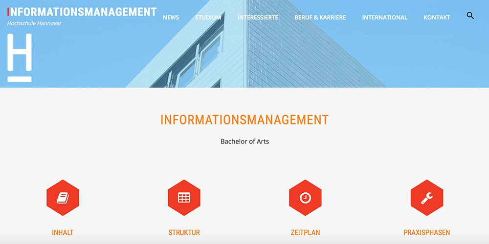 WebLab-Projekt: Neue Website Informationsmanagement an der HsH