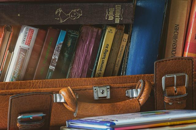 Reisekoffer vollgepackt mit Büchern